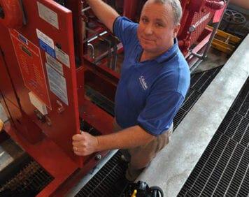 Pump Engineer working at JFK Airport